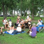 Jam à l'île Bate, le 30 juin 2013. Photo par Mike Buckthought.